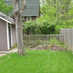 BEFORE PHOTO: we composted on the site for a year before to help prepare it