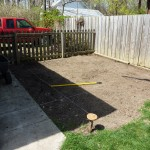 Laying out the new garden and fence line