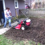 Step #2 was tilling in all that organic debris and making beautiful soil