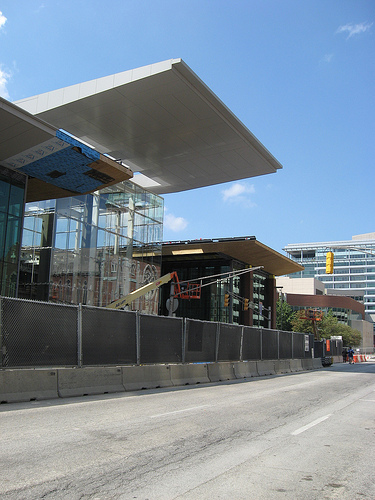 Convention Center Entrance under construction 8/2010