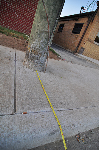52nd Street Sidewalk Reconstruction (thats 32 inches)