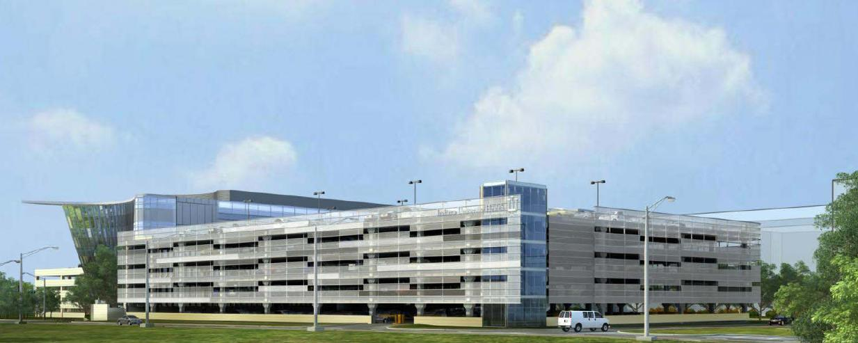 Garage Facade clarian neuroscience center of excellence – renderings and