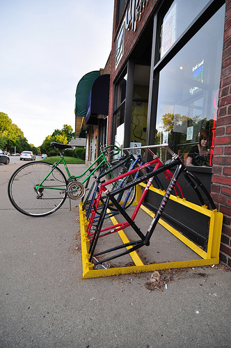 Bike Rack in front of Upland Tasting Room