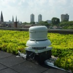 The green roof is compatible with conventional building infrastructure