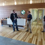 The Nature Conservancy hosts walkthroughs - the building is expected to achieve LEED Platinum