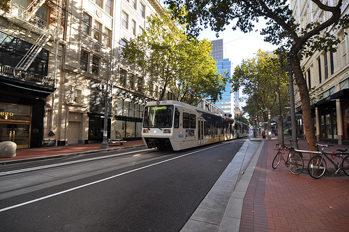 Could Light Rail someday look like this on Washington St? (author's photo)