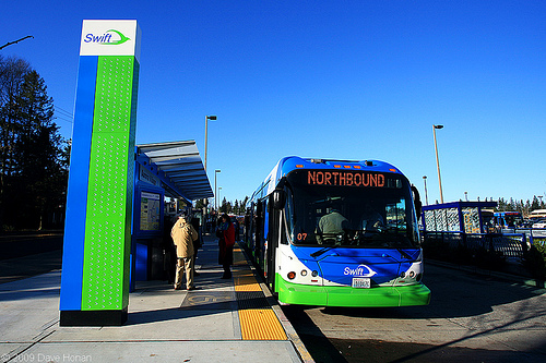 A stop on Everett, WA's Swift BRT (photo: Flickr user DWHonan)