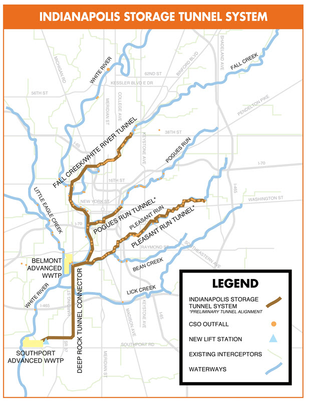 Indianapolis CSO Project Urban Indy - Indianapolis on us map