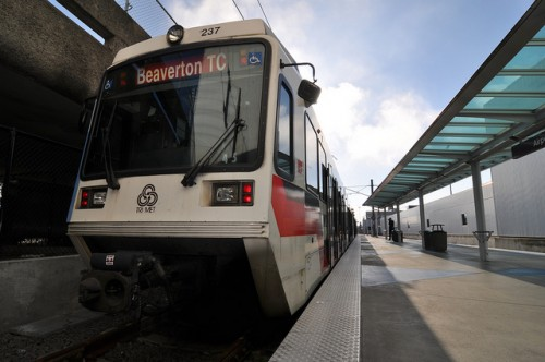 Portand MAX Light Rail at the airport (image credit: me)