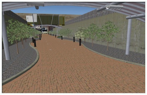 Merrill St Rendering (image source: Indianapolis DPW)