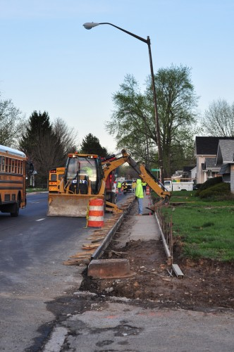 Sidewalk reconstruction on 46th Street