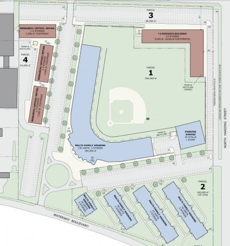 Bush Stadium Site Plan (image credit: Develop Indy)