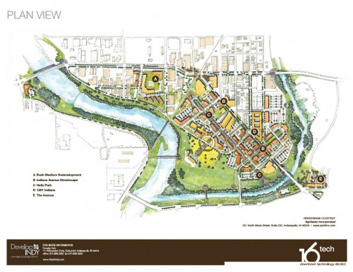 16 Tech Site Plan - Initial Renderings (image credit: Develop Indy)