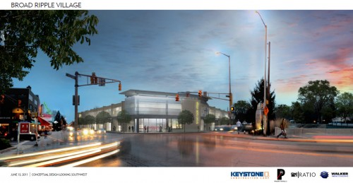 Broad Ripple Parking Structure Rendering (image source: City press release)