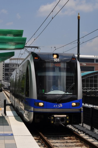 Lynx Light Rail at 3rd St Station (image credit: Curt Ailes)