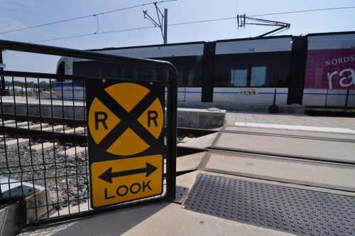 Pedestrian Crossing at I-485 Station (image credit: Curt Ailes)