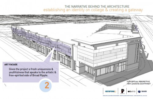 Broad Ripple Mixed Use Structure (image credit: Design Team Presentation)