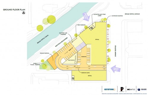 Broad Ripple Mixed Use Structure Site Plan (image credit: Design Team Presentation)