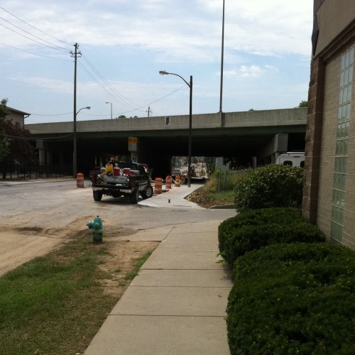 Shelby Street sidewalk reconstruction