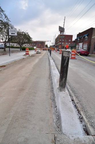 Shelby Street Bike Track under construction (image credit: Curt Ailes)