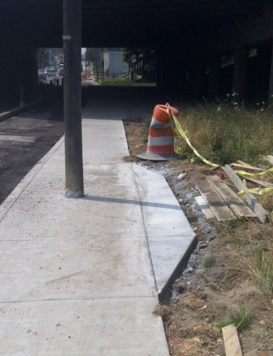 First attempt to fix Shelby Street Sidewalk (image credit: reader submission)