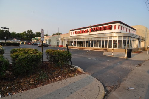 Cardinal Fitness and existing parking lot (image credit: Curt Ailes)