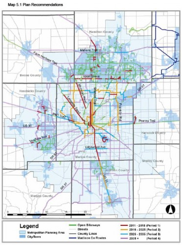 Central Indiana Bicycle Plan - Draft (image credit: bikeway plan)