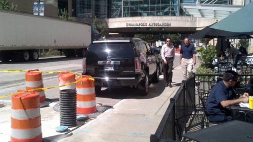 Escalade on Sidewalk (image credit: Kevin Kastner)
