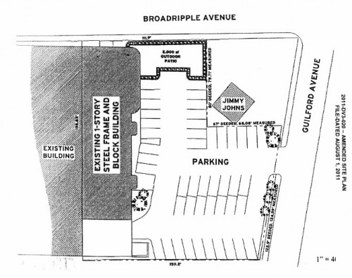 Kilroy's Site Plan as of 8-1-2011 (image credit: DMD Staff Report)