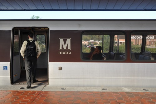 Man boarding Metro (image credit: Curt Ailes)