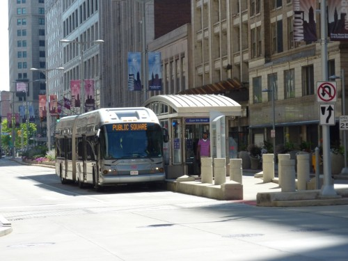 Cleveland BRT at Station (image credit: Graeme Sharpe)