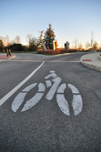 Bike Lane at Lawrence Village (image credit: Curt Ailes)