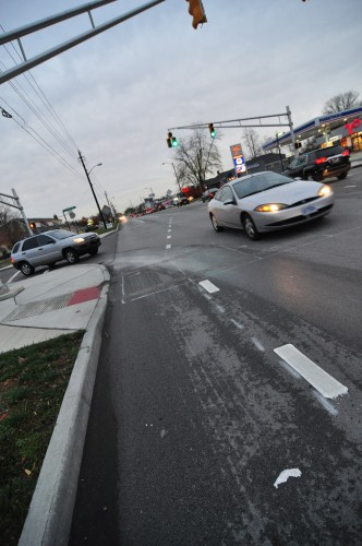 Broad Ripple Ave Bike Lane (image credit: Curt Ailes)