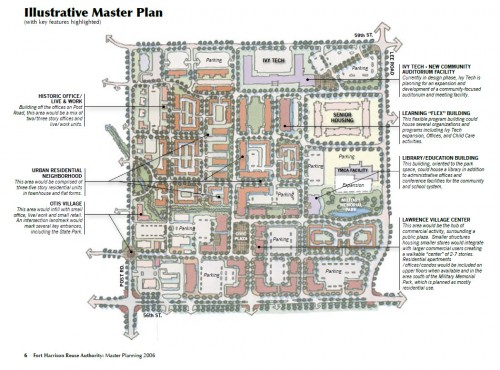 Lawrence Village Site Plan (image source: Reuse Authority Master Plan)