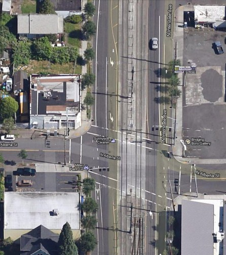 Intersection of Interstate Ave & Alberta - Portland, OR (image source, Google Maps)