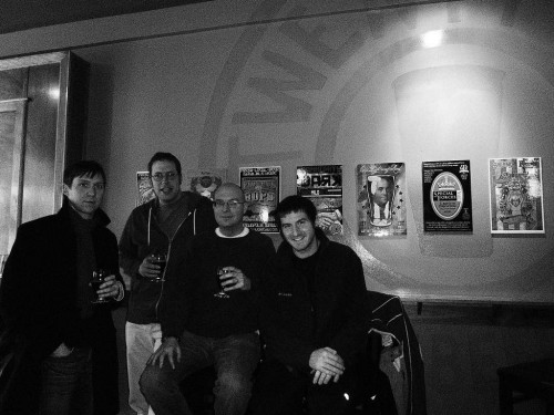 Twenty Tap with Dave (UI reader), Graeme (UI writer), Kevin (UI writer), and Joe (UI writer)