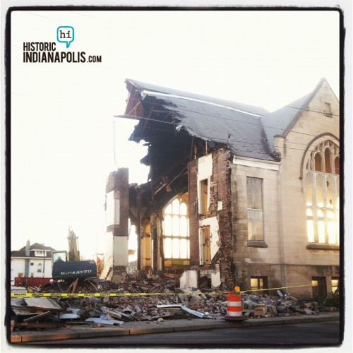 Grace Apostolic Church Demolition (image credit: Tiffany Benedict Berkson)