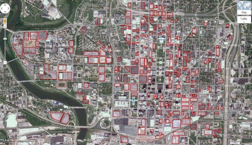 Indy Downtown Parking (from Google Map screenshot)