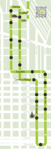 Cincinnati Streetcar Route (image credit: City of Cincinnati)