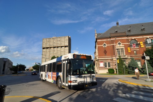 IndyGo route 17 on Mass Ave (image credit: Curt Ailes)