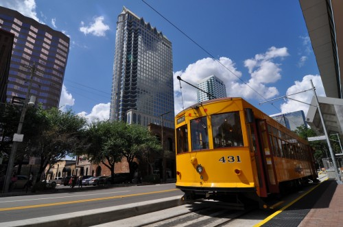 Tampa Streetcar in Downtown (image credit: Curt Ailes)