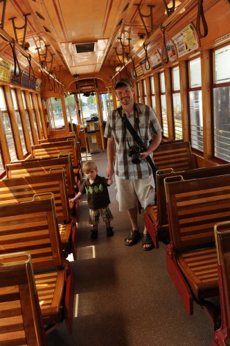 Me & my son Oscar inside a Tampa Streetcar (image credit: Casey Jo Ailes)