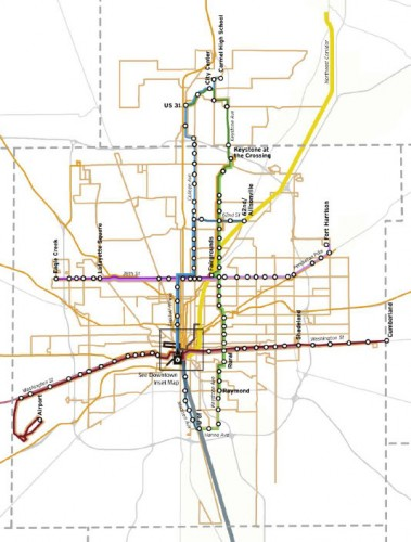 BRT System (image source: Indianapolis MPO Study)