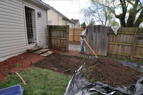 Digging for the Patio (image credit: Curt Ailes)