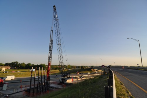 New flyover bridge construction over I-69 (image credit: Curt Ailes)