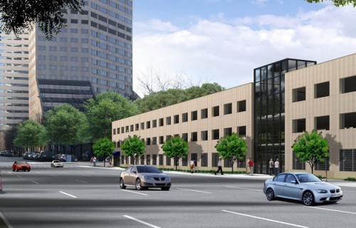 Block 400 Parking Garage Initial Rendering (image credit: City of Indianapolis)