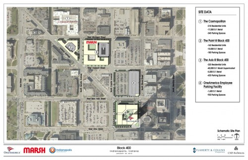 Block 400 Site Plan (image credit: City of Indianapolis)