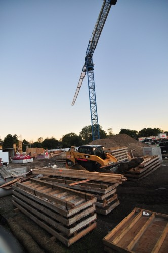 Broad Ripple Parking Garage Construction (image credit: Curt Ailes)