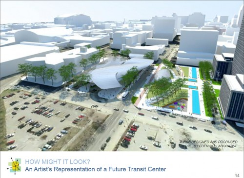 IndyGo Transit Center Architectural Concept (image source: bidding document)