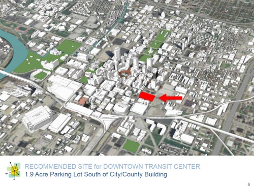 IndyGo Transit Center site location (image source: bidding document)